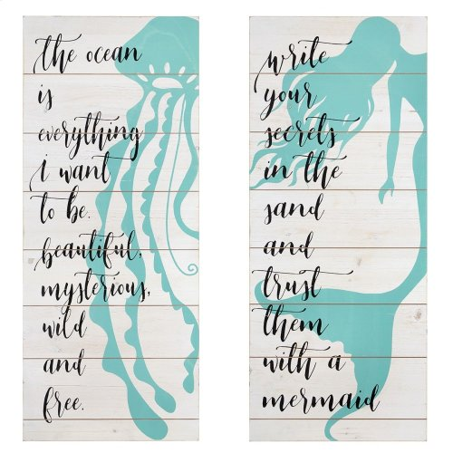 Mermaid Life Wall Decor - Ast 2