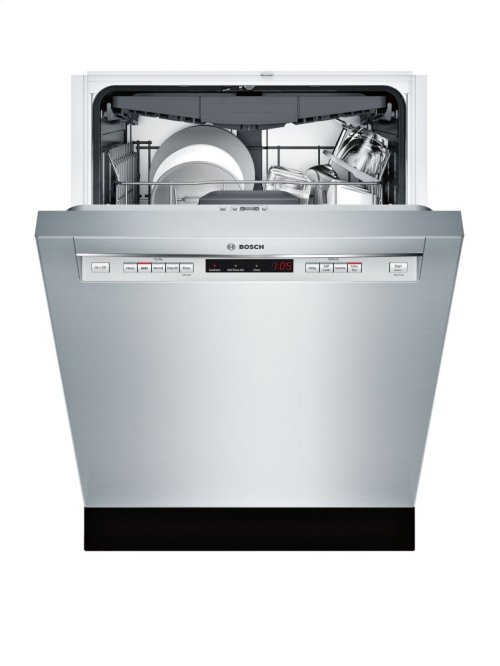 "300 Series 24"" Recessed Handle Dishwasher SHE863WF5N Stainless steel"