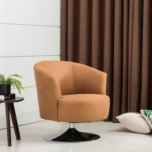 Twist Accent Chair in Bark Fabric