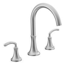 Icon chrome two-handle roman tub faucet