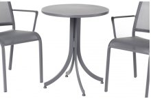"Maribo Alum. 24"" Round Bistro Flip Top Table"