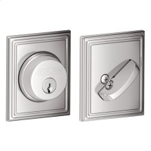 Single Cylinder Deadbolt with Addison trim - Bright Chrome