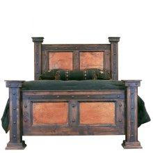 King Finca Bed W/Copper Panels