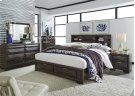 King Storage Bed, Dresser & Mirror, NS Product Image