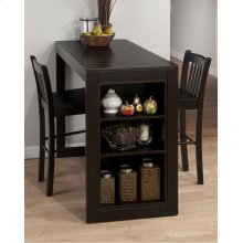 Merlot Counter Height Storage Table With Three Stools