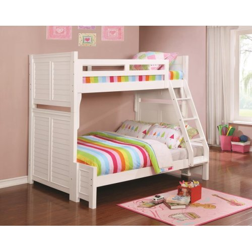 Edith Cottage White Twin-over-full Bunk Bed