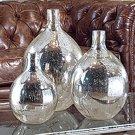 Wine Spheres In Ant. Mercury (set of 3) Product Image