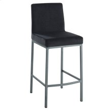 Diego 26'' Counter Stool, set of 2, in Black with Grey Legs