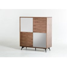 Modrest Kennedy Modern Walnut Square Buffet