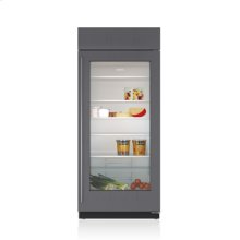 """36"""" Classic Refrigerator with Glass Door - Panel Ready"""