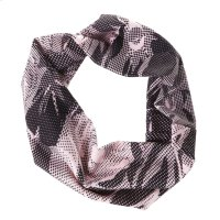 Black & Pink Floral Stretch Headband. Product Image