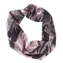 Black & Pink Floral Stretch Headband.