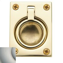 Satin Nickel with Lifetime Finish Flush Ring Pull