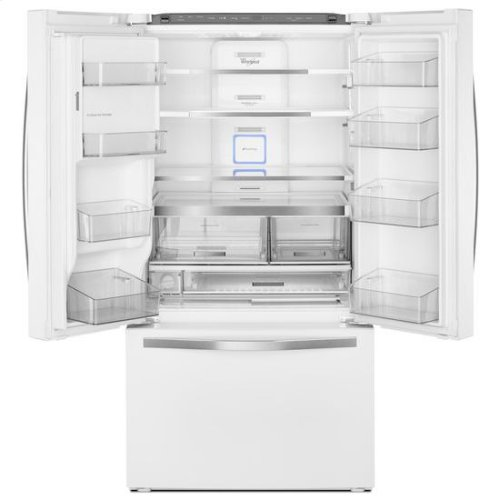 Whirlpool® 36-inch Wide French Door Refrigerator with Infinity Slide Shelf - 32 cu. ft. - White Ice