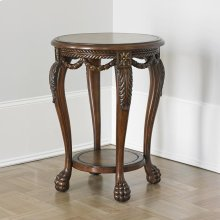 Leather & Swag Accent Table