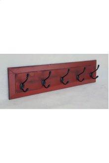 5-Hook Panel Coat Rack - Vintage Berry over Black