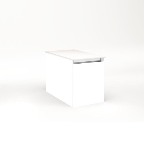 """Cartesian 12-1/8"""" X 15"""" X 21-3/4"""" Single Drawer Vanity In White With Slow-close Full Drawer and Night Light In 5000k Temperature (cool Light)"""