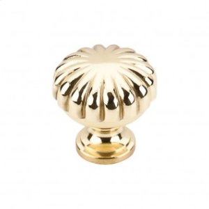 Melon Knob 1 1/4 Inch - Polished Brass