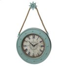 Aqua Compass Clock with Ship Wheel Hook Product Image