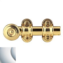 Polished Chrome Ornamental Heavy Duty Surface Bolt