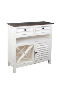 CC-CAB212TLD-WWRW  Cottage Whitewashed Wine Server