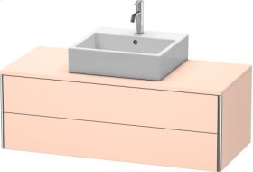 Vanity Unit For Console Wall-mounted, Apricot Pearl Satin Matt Lacquer
