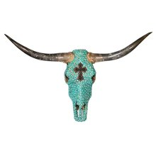 Turq Cross Jeweled Head