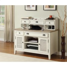 Coventry Two Tone - Credenza Desk - Weathered Driftwood/dover White Finish