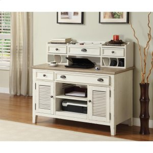 RiversideCoventry Two Tone - Credenza Desk - Weathered Driftwood/dover White Finish