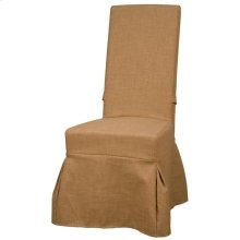 Slipcover Emily Fabric Chair, Dark Tan