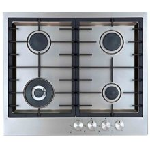 "24"" (60cm) 4 burner gas cooktop"
