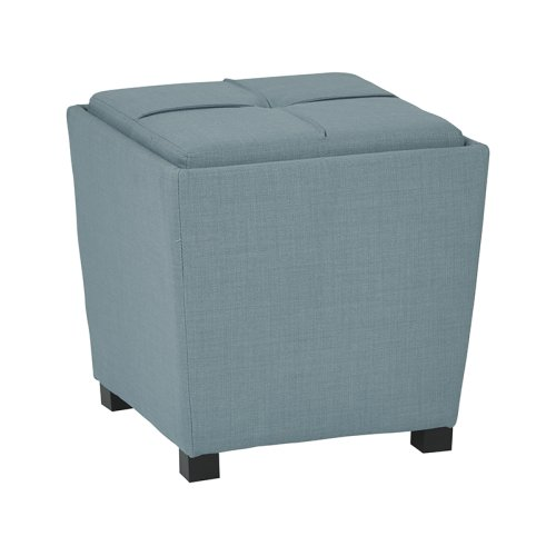 2-piece Ottoman Set With Tray Top In Milford Capri Fabric