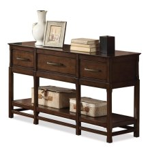 Tranquility Console Table Candlelight Cherry finish