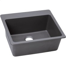 "Elkay Quartz Classic 25"" x 22"" x 9-1/2"", Single Bowl Drop-in Sink, Greystone"