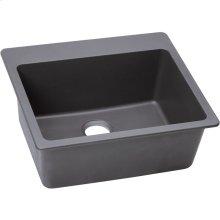 "Elkay Quartz Classic 25"" x 22"" x 9-1/2"", Single Bowl Drop-in Sink, Greystone"