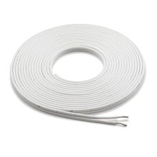 25 ft (7.6 m) White 12 AWG, Parallel Conductor Speaker Cable