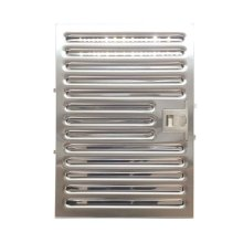 Stainless Steel, Low Resistance Pro Baffle Filter. Dishwasher safe cleaning. Standard on models XOI3315 and XOI4515.