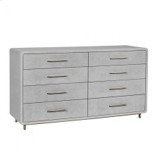 Alma 8 Drawer Chest - Light Grey