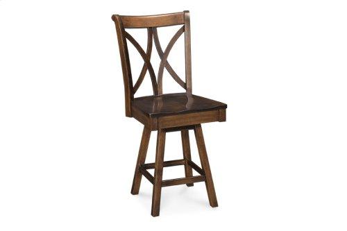 Hanna Swivel Barstool, Side, Fabric Seat