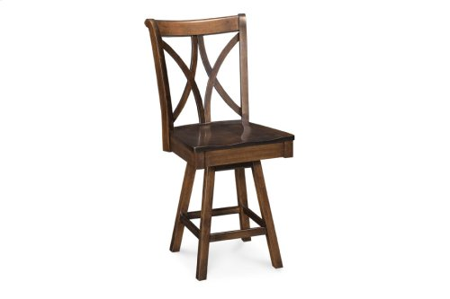 Hanna Swivel Barstool, Side, Fabric Seat