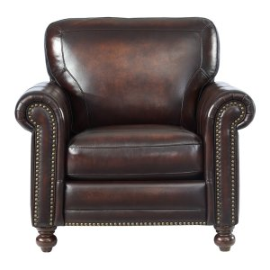Leather Italia Usa 7160 Hampton Chair L501m Brown