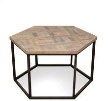 Thornhill Hexagon Coffee Table Seaward Driftwood finish