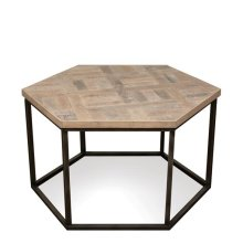 Thornhill Hexagon Coffee Table Seaward Driftwood finish
