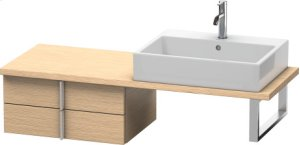 Vero Low Cabinet For Console Compact, Brushed Oak (real Wood Veneer)