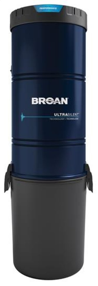 Central vacuum with 650 Air Watts