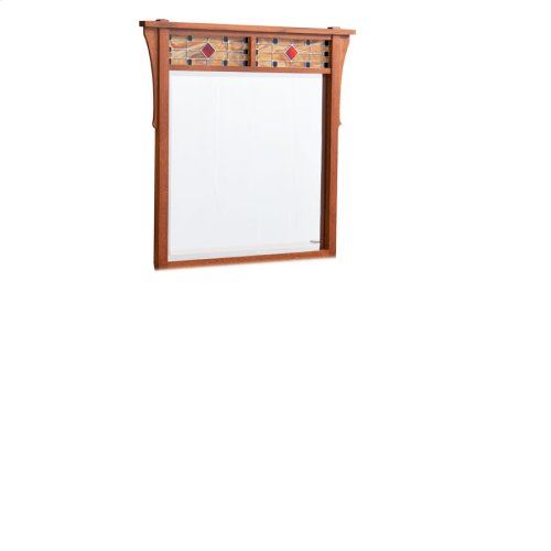 Grant Dresser Mirror with Stained Glass, Medium