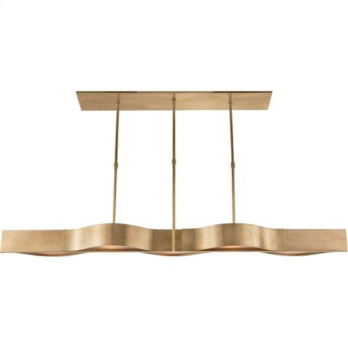 Visual Comfort KW5523AB-FG Kelly Wearstler Avant 5 Light 60 inch Antique-Burnished Brass Linear Pendant Ceiling Light in Antique Burnished Brass