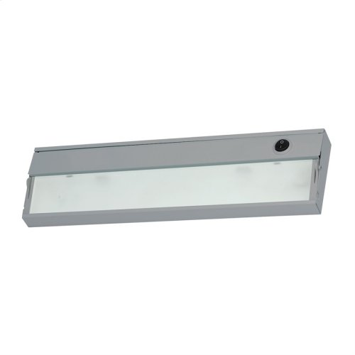 ZeeLite 1-Light Under-cabinet Light in Stainless Steel with Diffused Glass