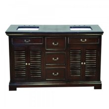 Double 60 in. Sheesham Vanity Walnut Finish