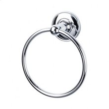 Edwardian Bath Ring Plain Backplate - Polished Chrome